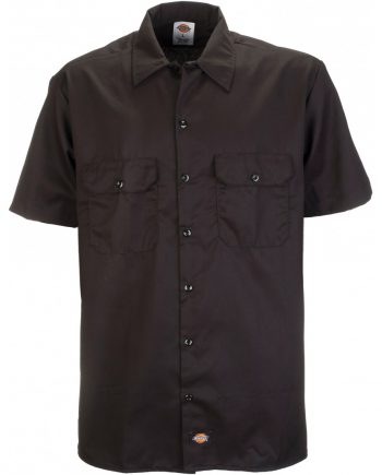 Short Sleeve work shirt (Black) (4XL)