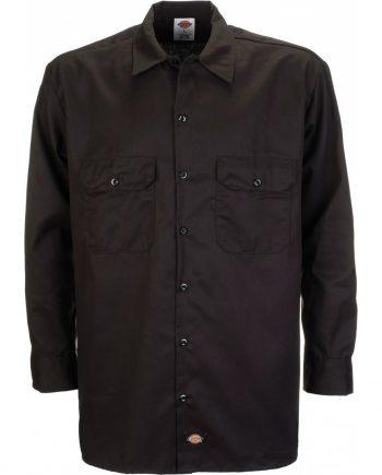 Long Sleeve work shirt (Black) (2XL)