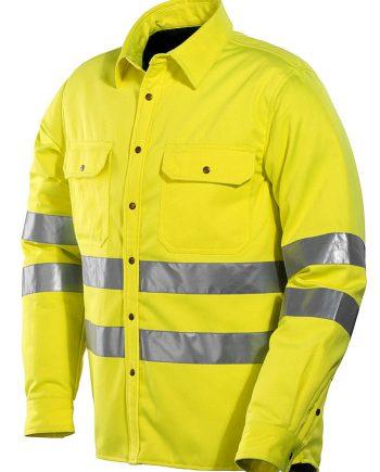 Fodrad skjorta Varsel 5156 (Gul (2100)) (XXXL)