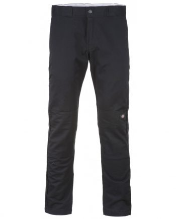 Skinny straight fit double knee work pant (Black) (38W/34L)